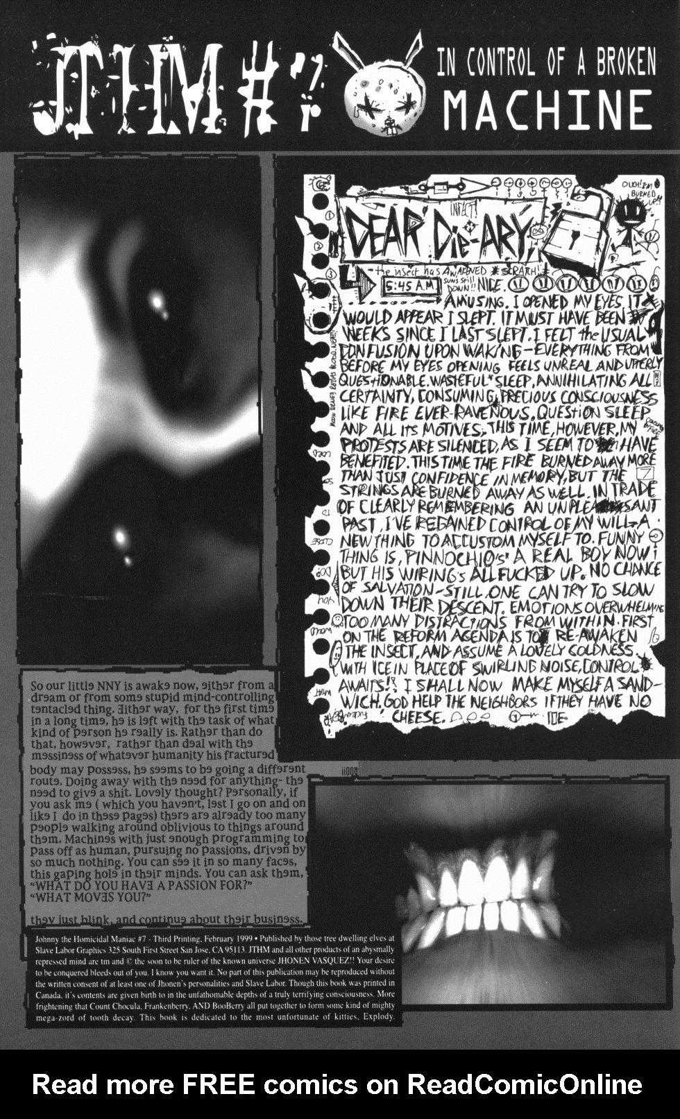 Johnny the Homicidal Maniac 7 Page 2