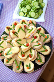beach theme party food flip flop sandwiches for tweens and teens