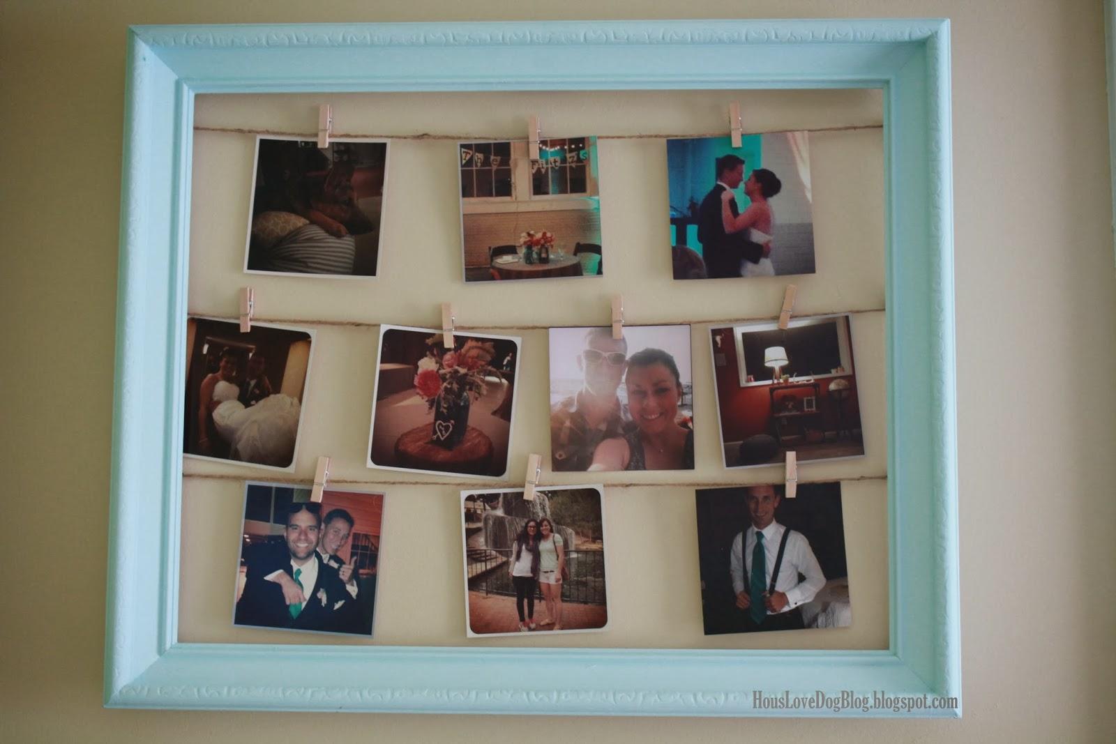 hous love dog blog clothesline photo frame. Black Bedroom Furniture Sets. Home Design Ideas