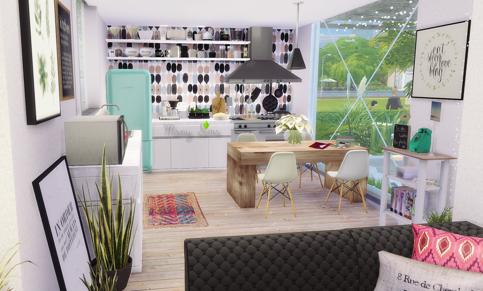 Minimalist container house sims 4 houses for Minimalist house sims 2