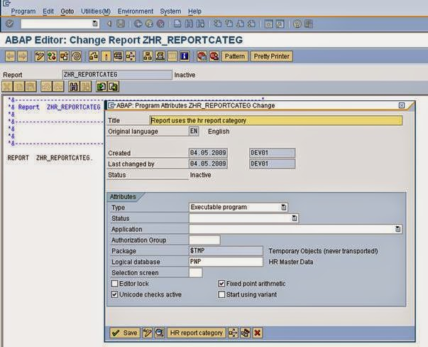 HR ABAP - Creation of HR Report SAP ABAP Online Tutorials - hr report
