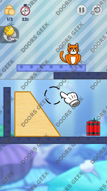 Hello Cats Level 56 Solution, Cheats, Walkthrough 3 Stars for Android and iOS