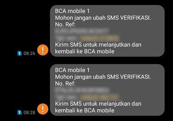 Gagal Kirim SMS Verifikasi Aktivasi BCA Mobile