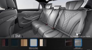 Nội thất Mercedes S500 L 2016 màu Xám Crystal 508