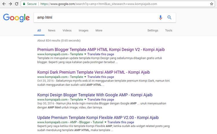 Solusi Mudah Untuk Search Box Blog AMP HTML