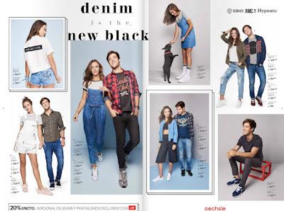 Catalogo  de ropa oechsle jeans y zapatillas 2016