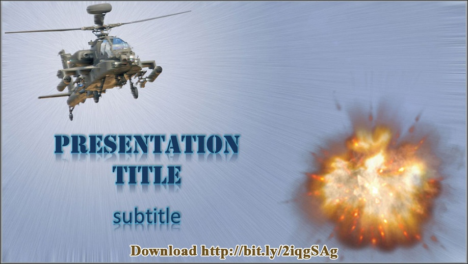 download free helicopter powerpoint template with apache ah-64, Modern powerpoint