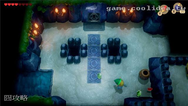 薩爾達 織夢島攻略 燈魚怪瀑布池迷宮8