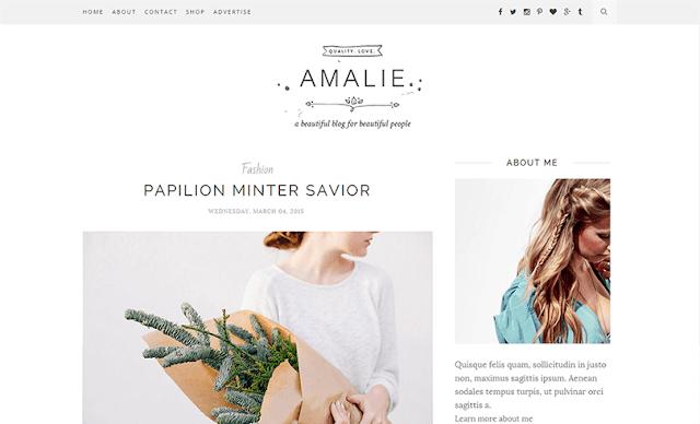 Amalie - A Clean & Minimal Blogger Template
