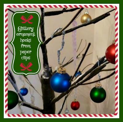 glittery ornament hooks