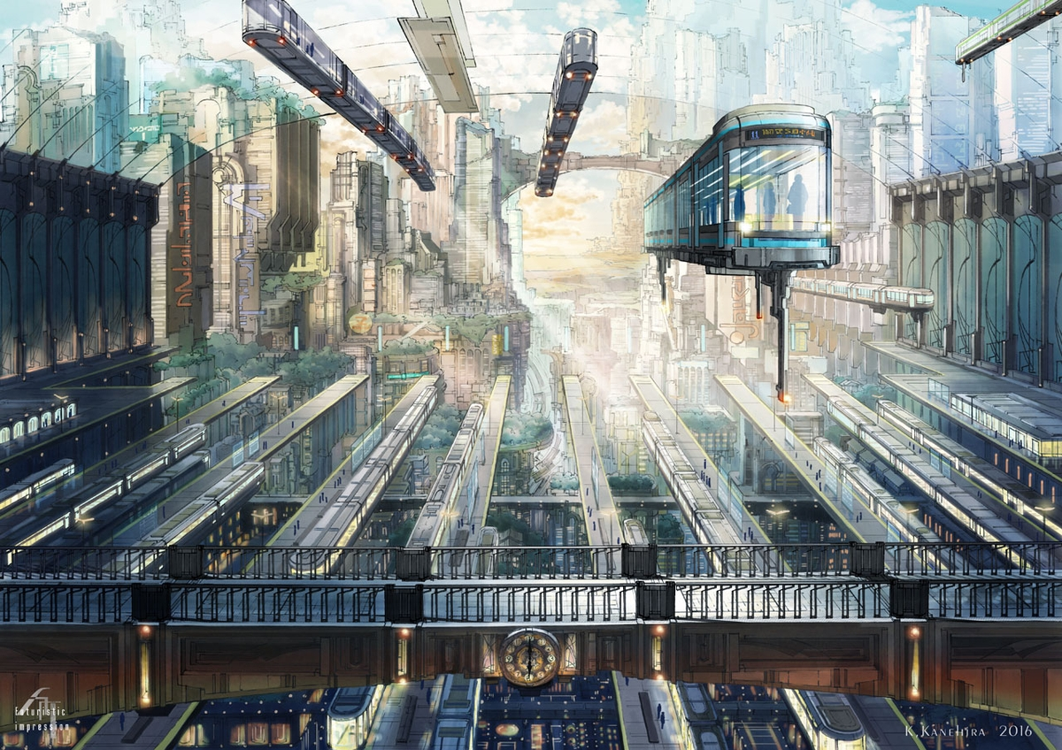 02-Central-station-K-Kanehira-Futuristic-Impressions-of-Architecture-with-Urban-Decay-www-designstack-co