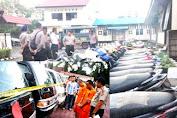 Polres Selayar Amankan Ratusan Motor Dan Belasan Mobil Diduga Hasil Kejahatan