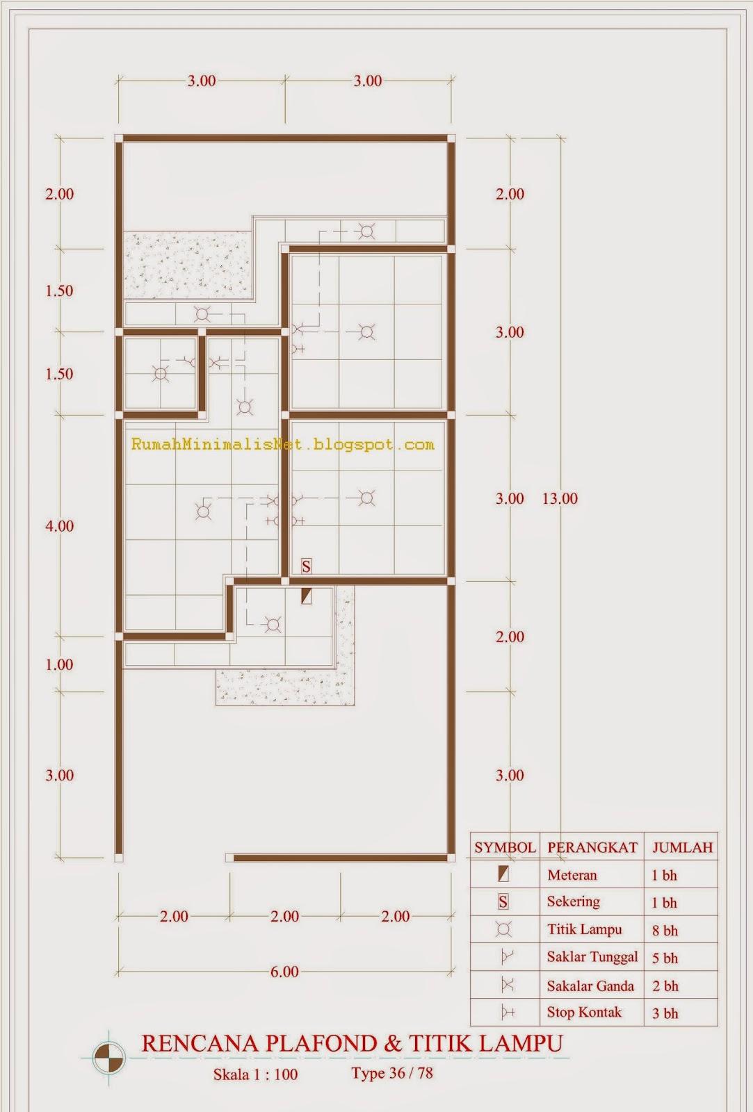 Contoh Denah Rumah Minimalis Type 36 / 78 Solusi Hunian ...
