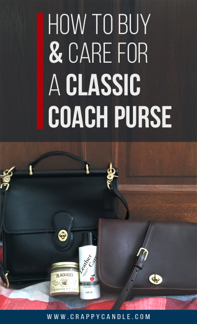 How to Buy & Care for a Classic Coach Purse :: Crappy Candle