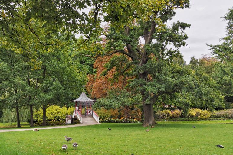 Se promener dans le parc de Frederiksberg à Copenhague