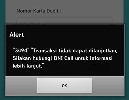 Solusi Mengatasi Alert 3494 Login Aplikasi BNI Mobile Banking