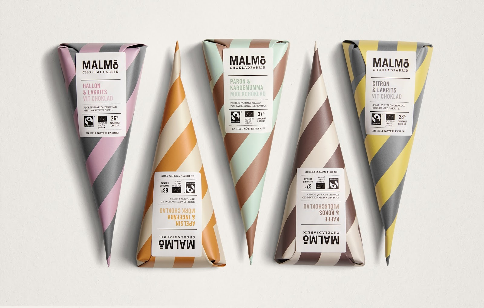 Malm chokladfabrik bars cones on packaging of the world for Design agency pond