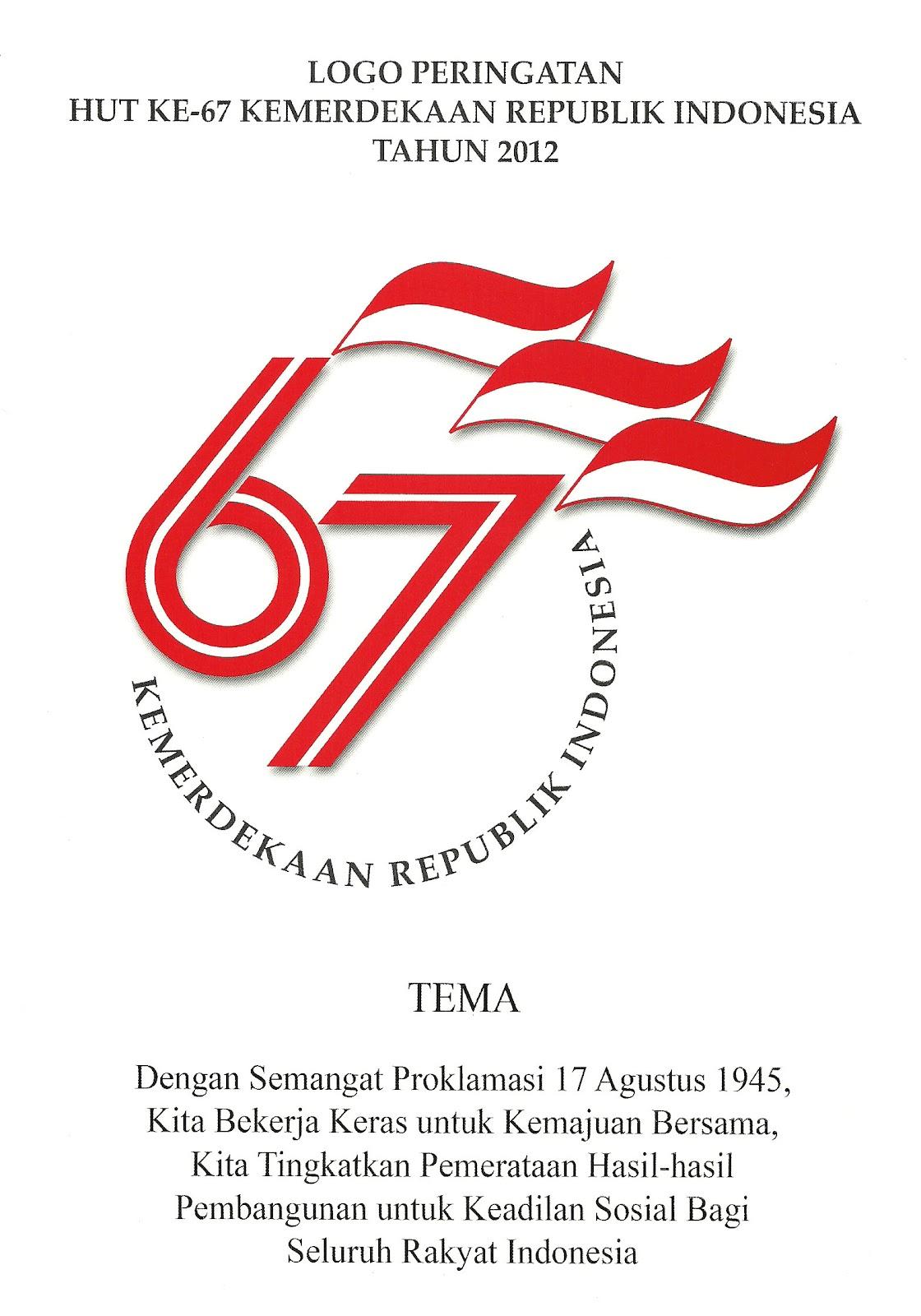 Logo Kemerdekaan HUT RI Ke 67 Tahun 2012