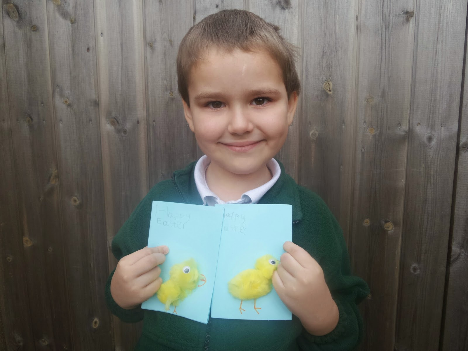 Big Boy and his Easter Cards