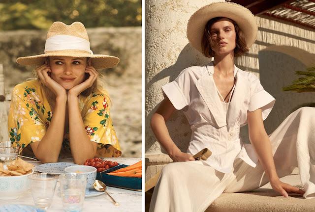 Девушка в летней широкополой шляпе с загнутыми вверх полями