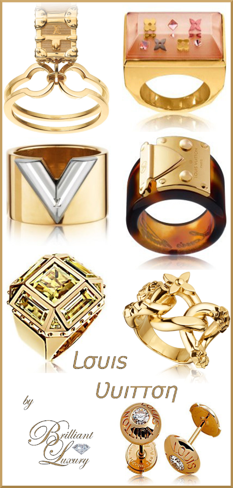Brilliant Luxury ♦ Louis Vuitton #jewelry