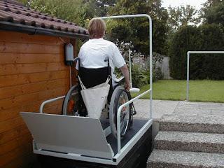 Mała winda do transportu osoby niepełnosprawnej