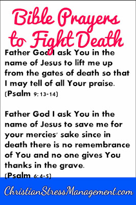 Bible prayers to fight death