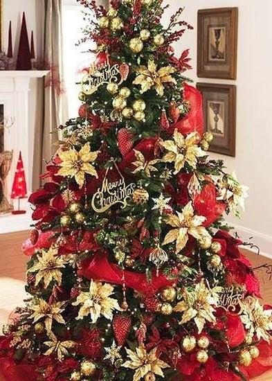 C mo hacer una flor navide a reciclando cositasconmesh - Decoracion de arboles navidenos ...