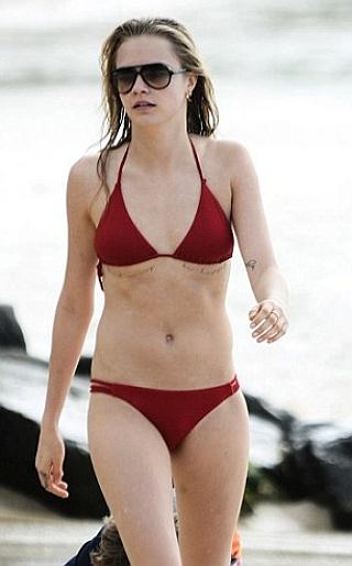 Cara Delevingne Bikini Pictures