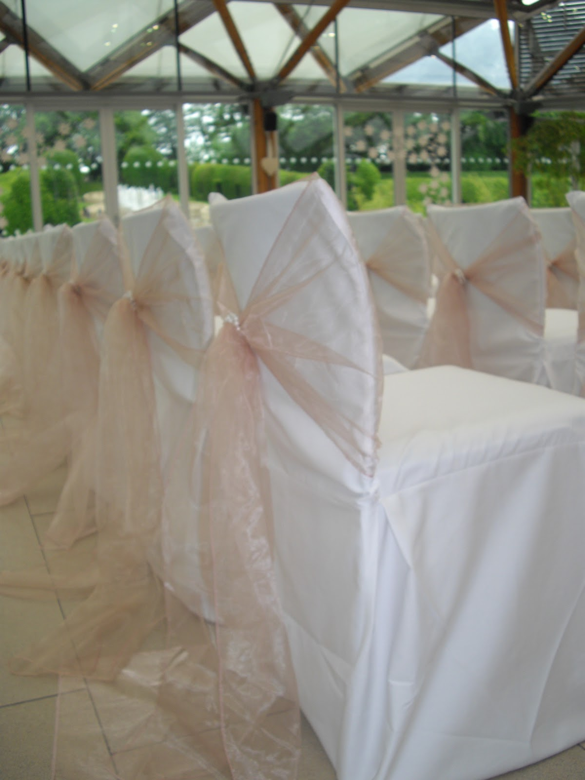 simply bows and chair covers newcastle starfish wedding decorations january 2012 antique pink organza tied with vintage pearls by