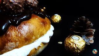 Roscón con nata y chocolate