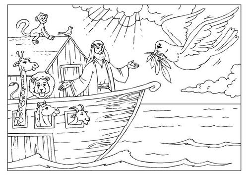Para Criancas Arca De Noe Desenho Para Colorir Genesis 6