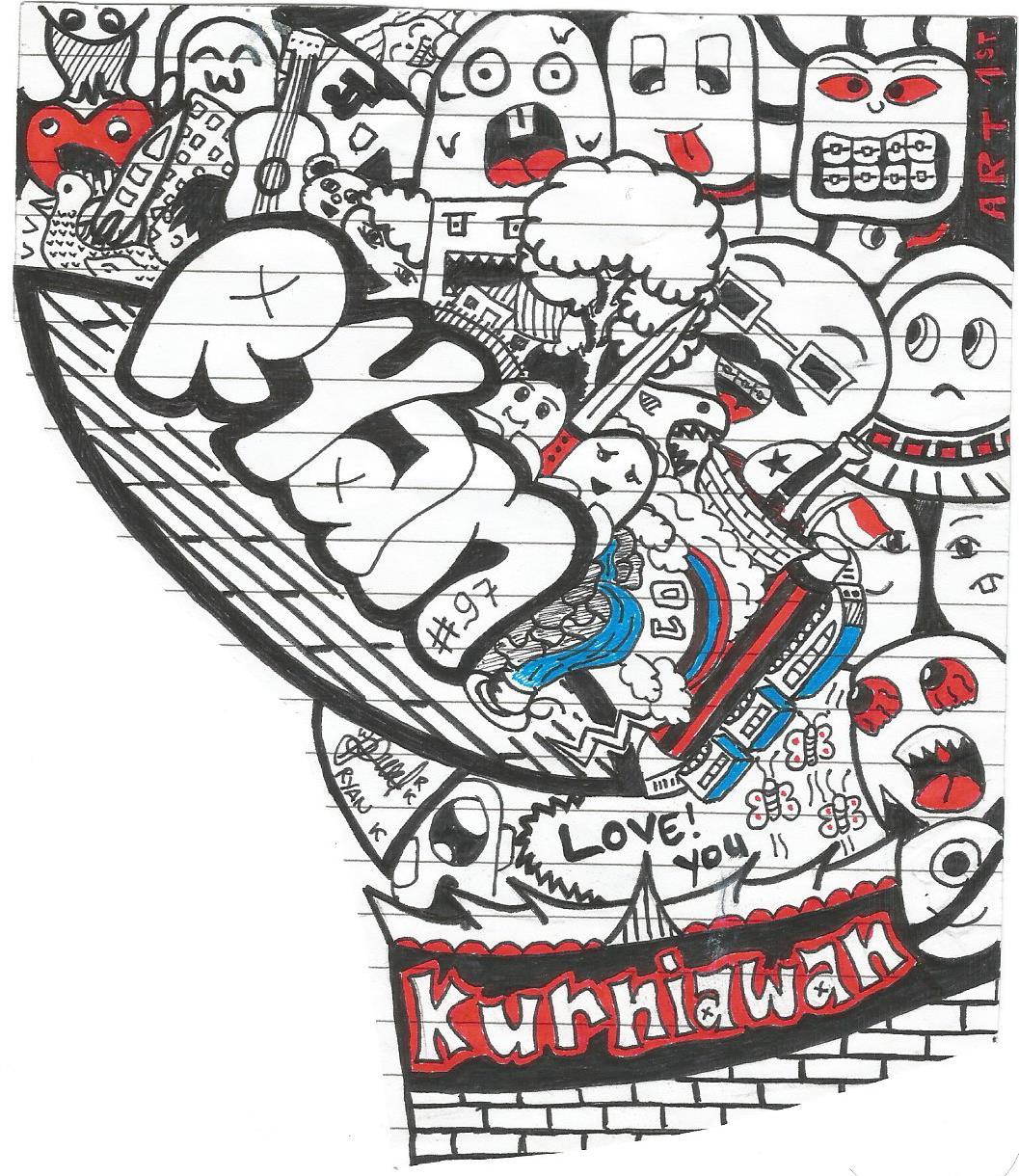 Gambar Grafiti Doodle Nama  Sobgrafiti