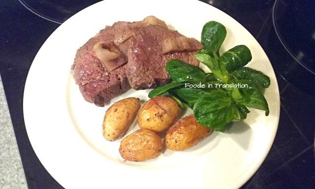 Arrosto di cavallo al forno con patate grenaille - Roast horsemeat with grenaille potatoes