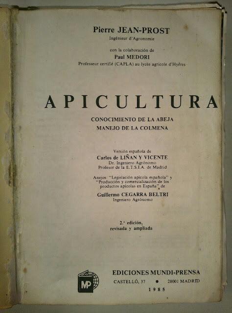 Tapa - La biblia del apicultor 200318 - El Apicultor Español: Actitud y Aptitud