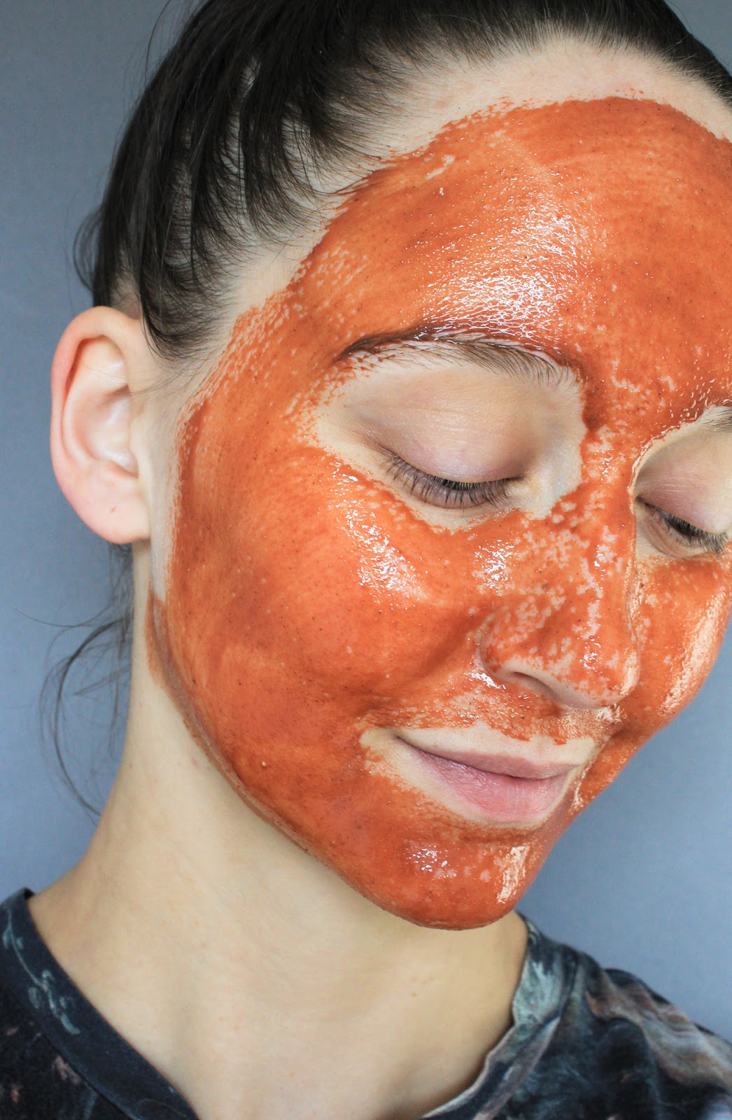 LILFOX Cleopatra Restorative Milk + Honey Beauty Mask. February Clean Beauty Box. Masking selfie