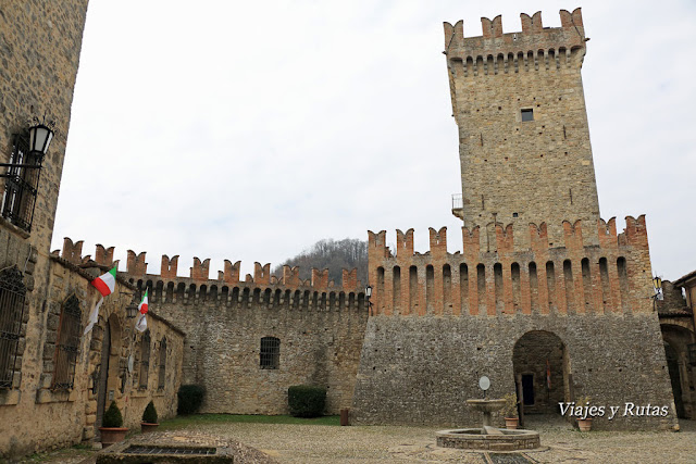 Castillo de Vigoleno, Piacenza, Italia