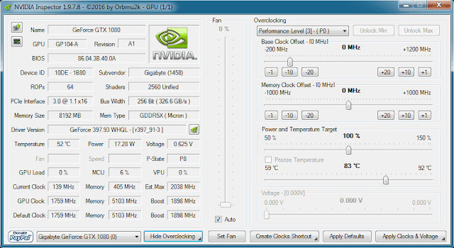 NVIDIA Inspector for Windows Free Download
