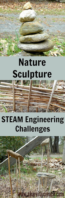 Nature Sculpture Engineering Challenges for Kids!