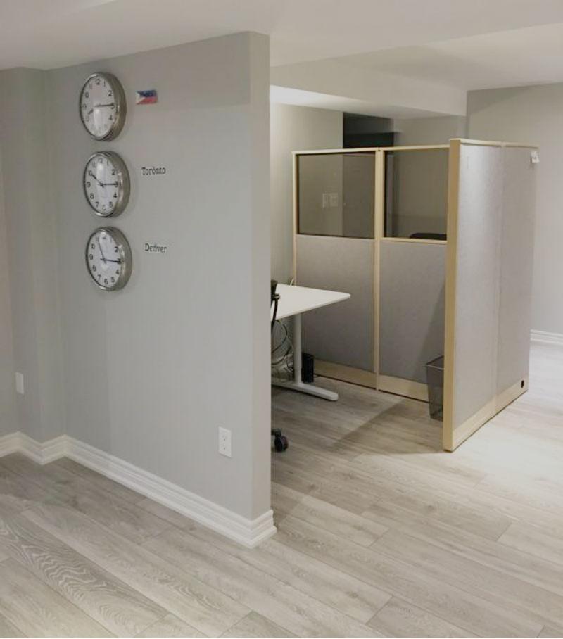 Toronto Custom Concepts Blog: Basement Office Renovation
