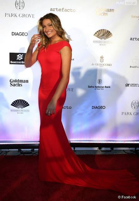 Sasha Meneguel Szafir, filha da xuxa, vestido vermelho