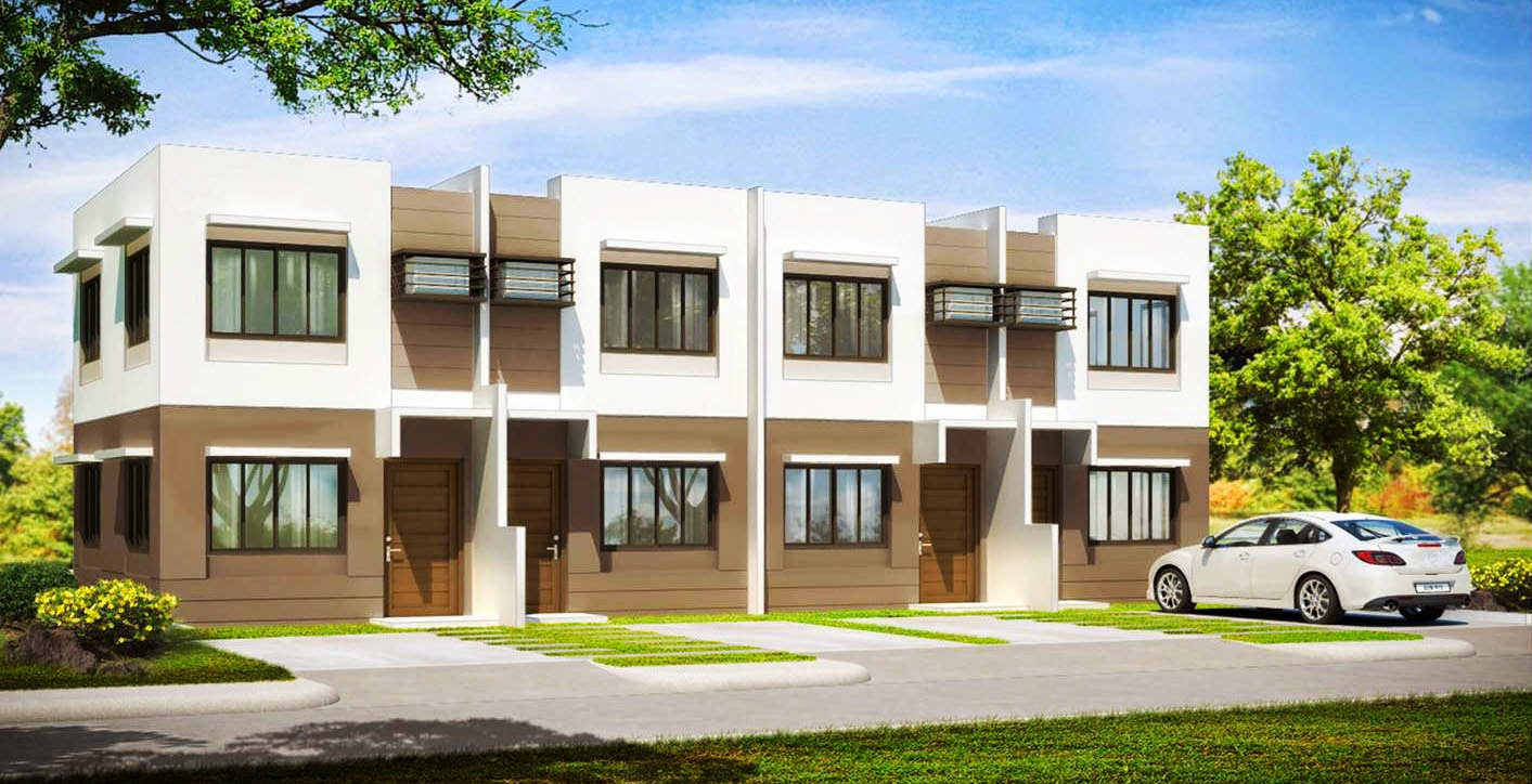 Low cost housing in the philippines house and lot laguna for Townhouse construction cost