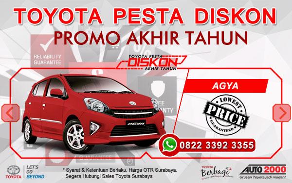 Promo Akhir Tahun Toyota Agya Surabaya