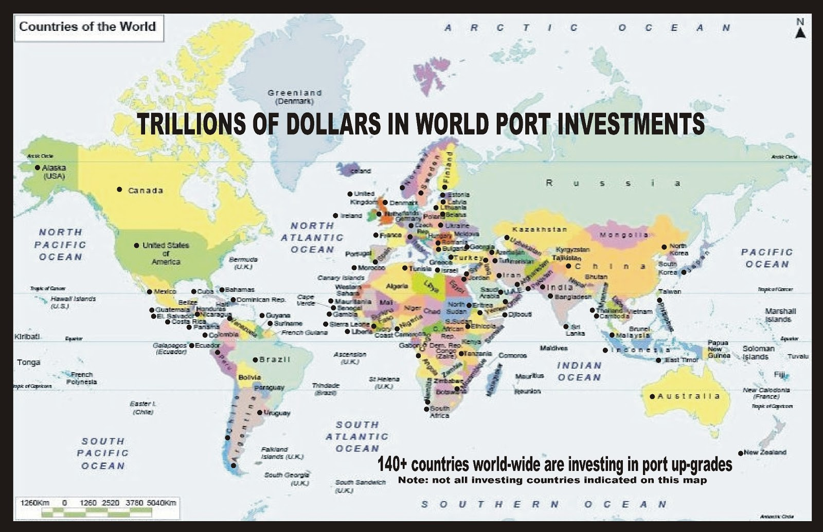 shipping port investing around the world
