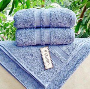 Handuk Merk Natural warna biru