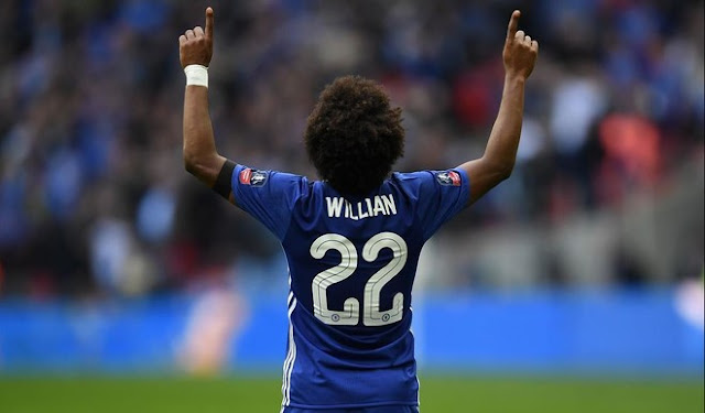 Chelsea set their price for Willian with Barcelona and Manchester United waiting to pounce.