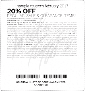 Lord & Taylor coupons february 2017