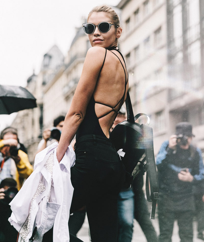Couture A/W 2016 Street Style: Stella Maxwell