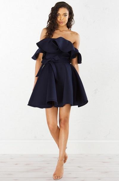 model mini dress terbaru bahan chiffon