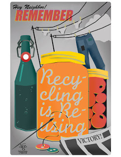 WW2 Recycle Efforts Poster